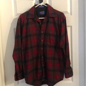 Pendleton buffalo plaid flannel lodge shirt